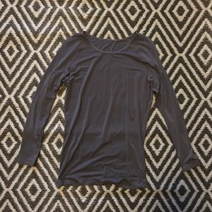 Women's Lululemon Open Back Long Sleeve Top